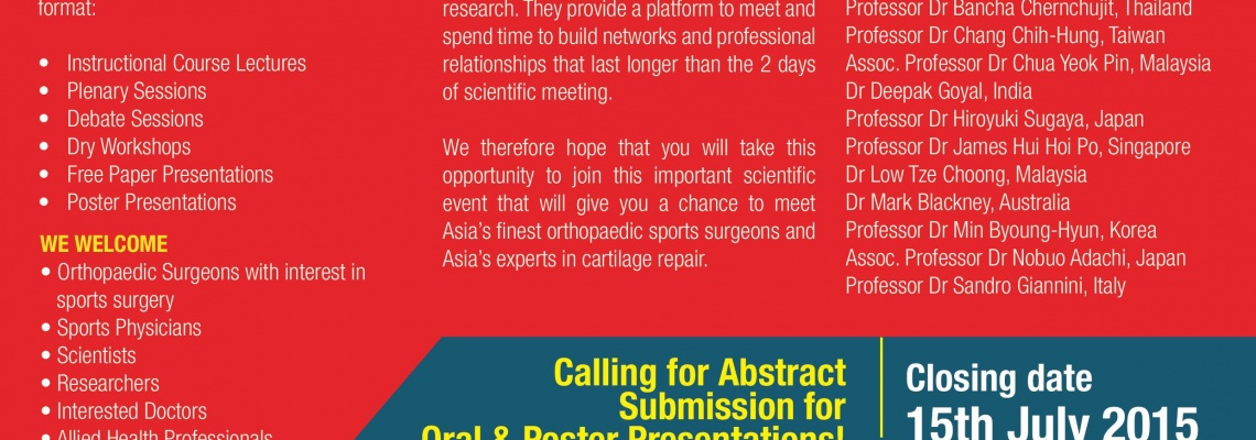 MAS ASM & ACRS 2015 Call for Abstract Announcement
